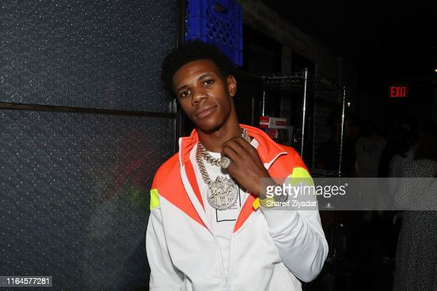 Boogie Wit Da Hoodie attends A Boogie Wit Da Hoodie 200 Million Streams on AudioMack Celebration Dinner on August 28 2019 in New York City