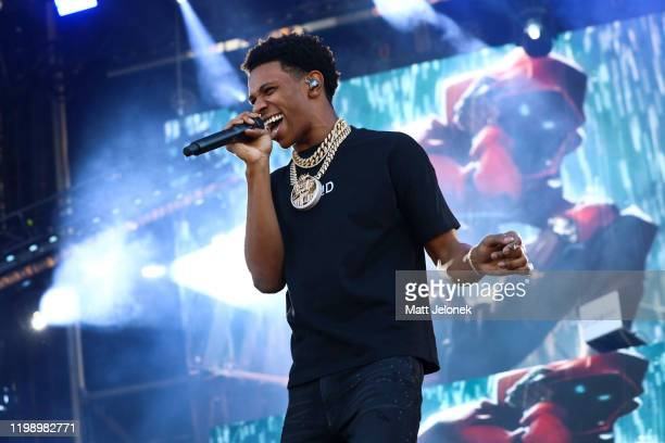 Boogie Wit Da Hoodie performs on stage at FOMO Festival 2020 on January 12 2020 in Melbourne Australia