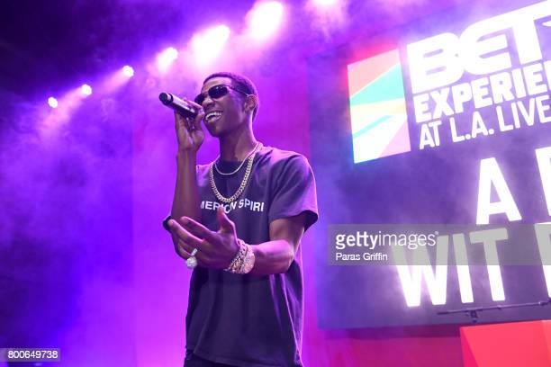 Boogie wit da Hoodie performs onstage at the Main Stage Performances during the 2017 BET Experience at Los Angeles Convention Center on June 24 2017...