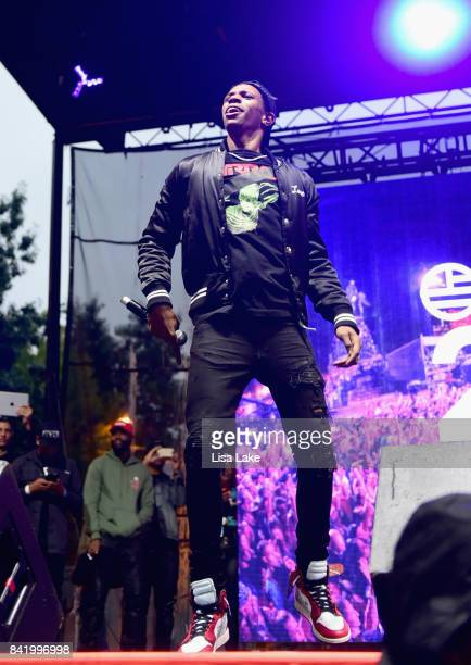 Boogie wit da Hoodie performs onstage during the 2017 Budweiser Made in America festival Day 1 at Benjamin Franklin Parkway on September 2 2017 in...