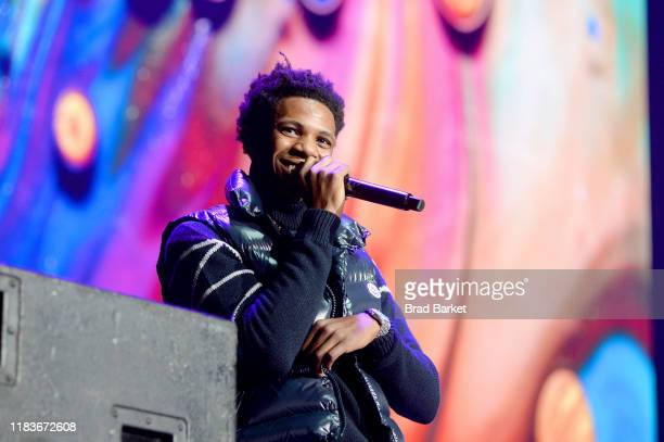 Boogie wit da Hoodie performs onstage during the Power 1051'S Powerhouse 2019 presented by ATT at Prudential Center on October 26 2019 in Newark New...