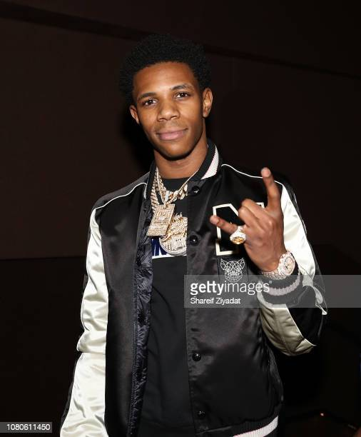 Boogie with da Hoodie attends The Wizrd New York Screening at iPic Theater on January 10 2019 in New York City