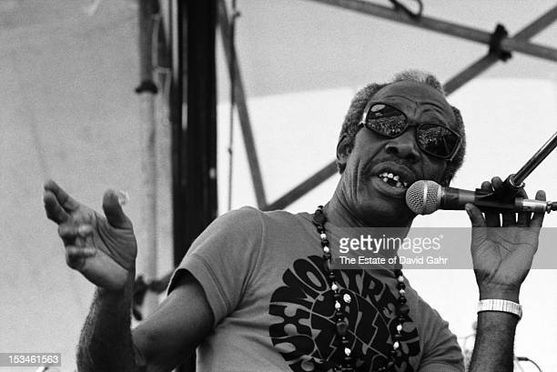 Boogie-woogie pianist and singer Professor Longhair performs at the Newport Jazz Festival New York on July 2, 1973 at Wollman Auditorium in Central...