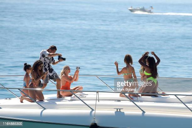Boohoo BoohooMAN take Kady Mcdermott and Samira Mighty for a Yacht Trip on July 29 2019 in Marbella Spain