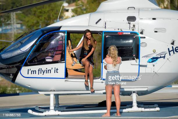Boohoo BoohooMAN take Kady Mcdermott for a Helicopter ride followed by a Yacht Trip on July 29 2019 in Marbella Spain