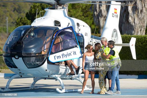 Boohoo BoohooMAN take Kaz Crossley and Stephanie Lam for a Helicopter ride followed by a Yacht Trip on July 29 2019 in Marbella Spain