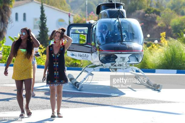 Boohoo BoohooMAN take Samira Mighty and Kady Mcdermott for a Helicopter ride followed by a Yacht Trip on July 29 2019 in Marbella Spain