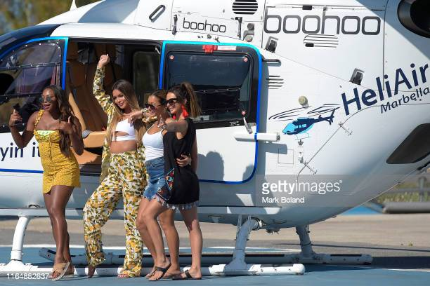 Boohoo BoohooMAN take Samira Mighty Stephanie Lam Kaz Crossley and Kady Mcdermott for a Helicopter ride followed by a Yacht Trip on July 29 2019 in...