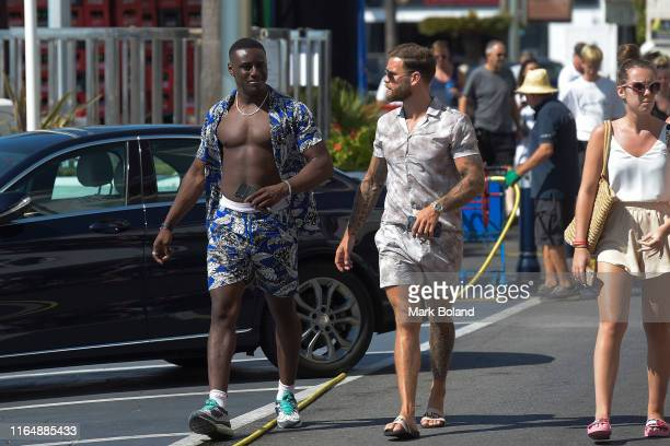 Boohoo BoohooMAN take Sherif Olanrewaju and Dom Lever for a Yacht Trip on July 29 2019 in Marbella Spain