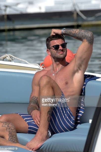 Boohoo BoohooMAN takes Adam Collard for a Yacht Trip on July 29 2019 in Marbella Spain