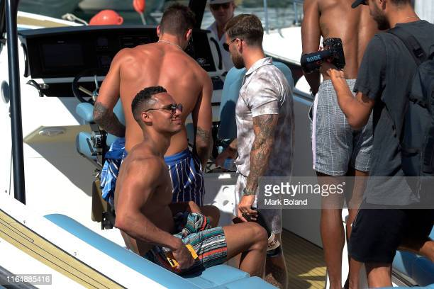 Boohoo BoohooMAN takes Rykard Jenkins for a Yacht Trip on July 29 2019 in Marbella Spain