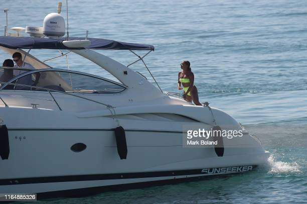 Boohoo BoohooMAN takes Samira Mighty for a Yacht Trip on July 29 2019 in Marbella Spain