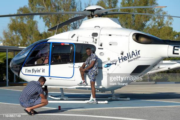 Boohoo BoohooMAN takes Sherif Olanrewaju for a Helicopter ride followed by a Yacht Trip on July 29 2019 in Marbella Spain