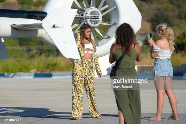 Boohoo BoohooMAN takes Stepahanie Lam for a Helicopter ride followed by a Yacht Trip on July 29 2019 in Marbella Spain