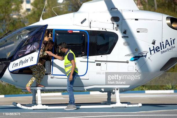 Boohoo BoohooMAN takes Stephanie Lam for a Helicopter ride followed by a Yacht Trip on July 29 2019 in Marbella Spain