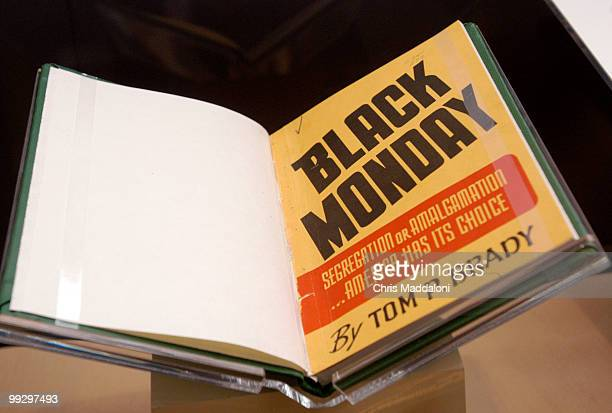 A book against integration that came out after Brown v Board of Education part of the new exhibit at the Library of Congress With and Even Hand on...