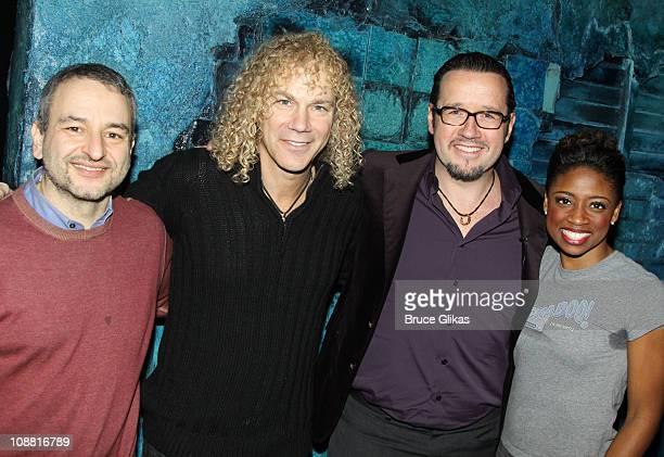 Book and Lyricist Joe DiPietro Composer David Bryan President and CEO Audemars Piquet North America FrancoisHenry Bennahmias and Montego Glover pose...