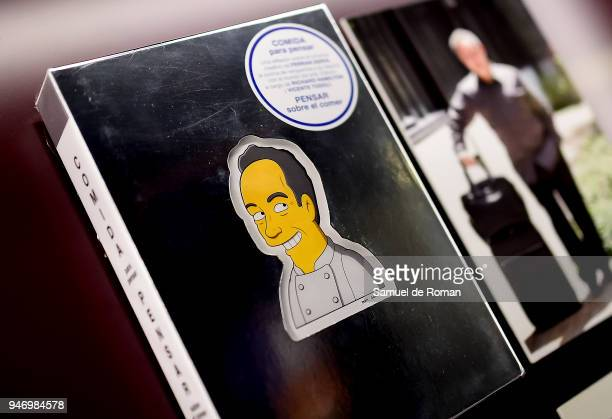 A book by Ferran Adria displayed during 'Time Capsule' by Louis Vuitton Exhibition on April 16 2018 in Madrid Spain