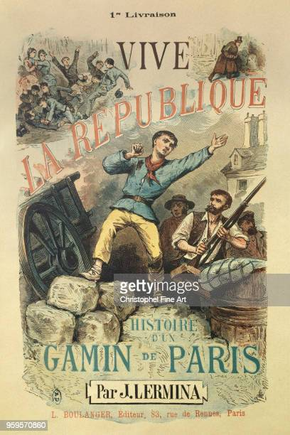 Book cover Long live the republic paris story of a kid by j Lermina 1848 French Art Musee des Arts Decoratifs in Paris France