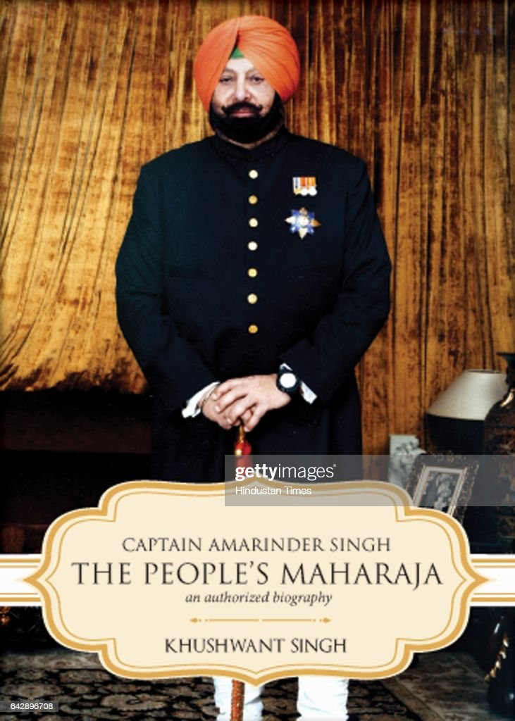 Book cover of 'Captain Amarinder Singh The Peoples Maharaja' written by Authorcolumnist and a TV show host Khushwant Singh on February 17 2017