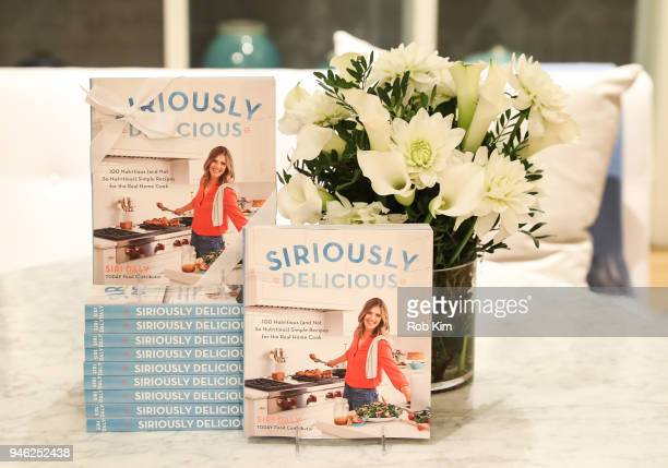 Book decor at 'Siriously Delicious' by Siri Daly book launch event at Williams Sonoma Columbus Circle on April 14 2018 in New York City