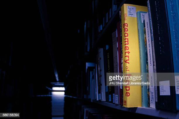 "Book entitled ""The Geometry of Hope"" has been pulled out of the stacks in the Milton S. Eisenhower library on the Homewood campus of the Johns..."