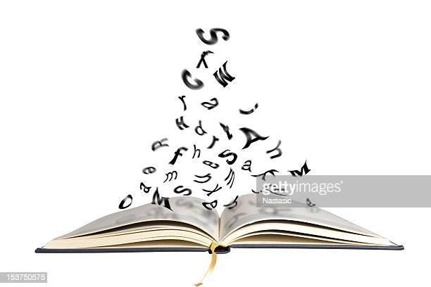 Livro, voar letras
