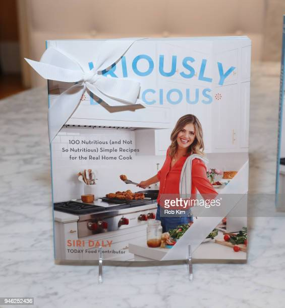 Book gift at 'Siriously Delicious' by Siri Daly book launch event at Williams Sonoma Columbus Circle on April 14 2018 in New York City