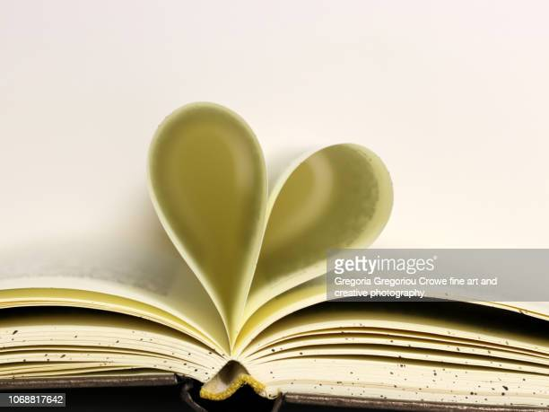book heart - gregoria gregoriou crowe fine art and creative photography. stock pictures, royalty-free photos & images