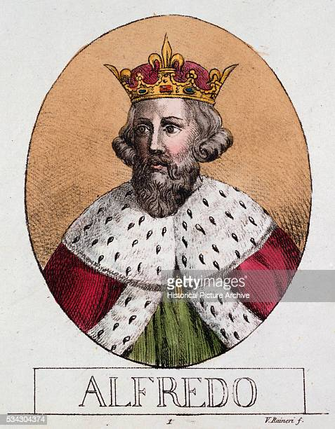 'Book Illustration of Alfred the Great King of Wessex by Raineri '