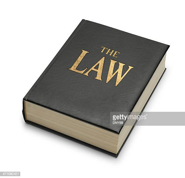 Book Imprinted With The Title 'The Law'