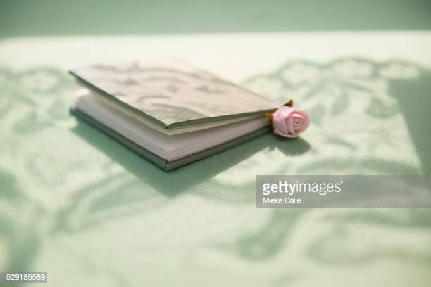 Book in a romantic setting