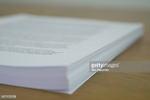 a book manuscript (pre-bound book) - publisher stock pictures, royalty-free photos & images