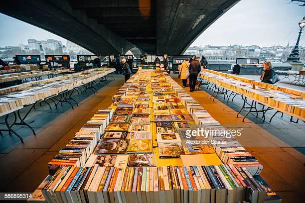 Book market underneath Waterloo Bridge, London, United Kingdom