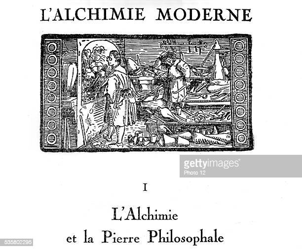 Book of Alchemy 'l'Alchimie moderne' Chapter I Alchemy and Philosopher's stone