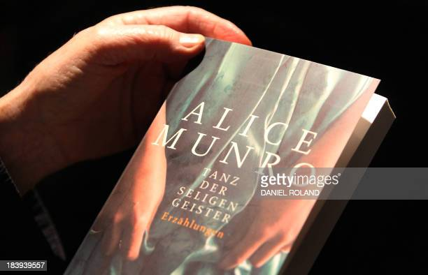 A book of Canadian author Alice Munro the Literature Nobel Prize 2013 winner is seen at the both of her German publisher Fischer Verlag at the...