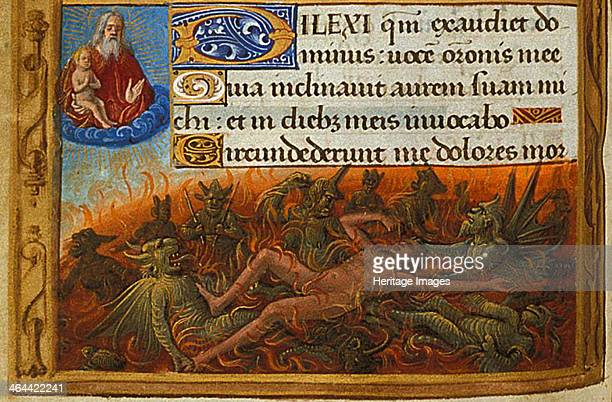 Dives tormented by demons and watched by the soul of Lazarus c 1500 From a private collection