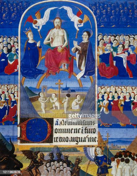 Book of Revelation Book of New Testament Final Judgment Book of hours of Duchess Borbogne's 15th century Conde Museum Chantilly France