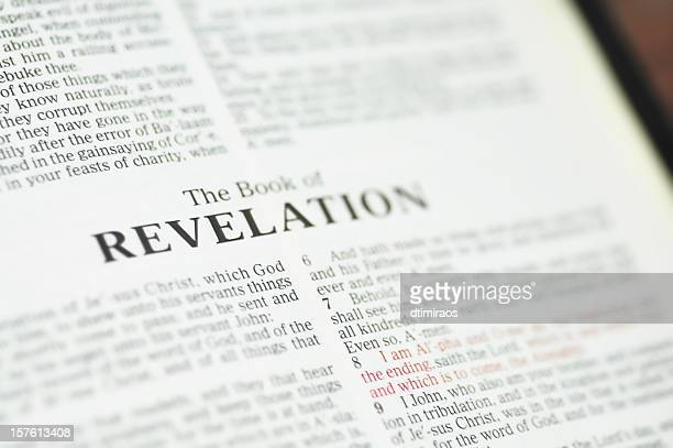 book of revelation or the apocalypse. - religious text stock pictures, royalty-free photos & images