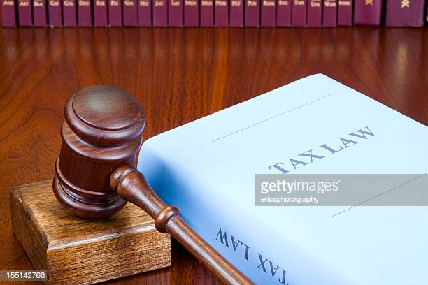Book of Tax Law on wooden table