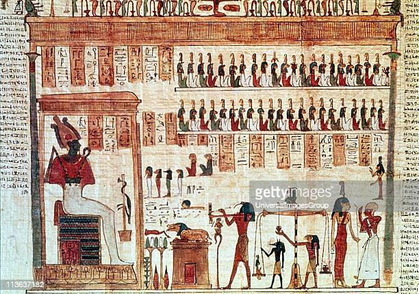 Book of the Dead Ptolemaic period 33230 BC Thoth Ibisheaded god secretary to the gods weighing heart of deceased before Jackalheaded Anubis son of...