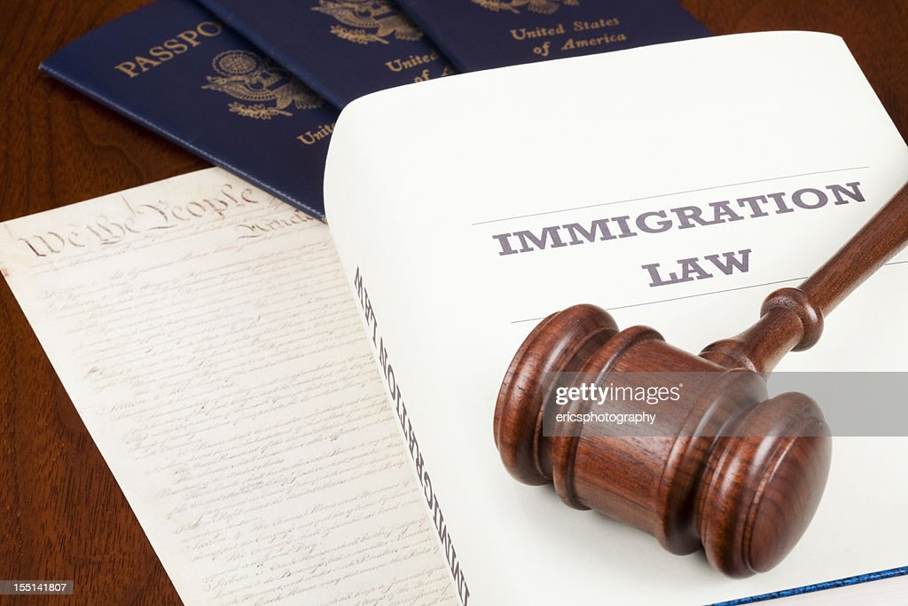 Book on Immigration law : Stock Photo