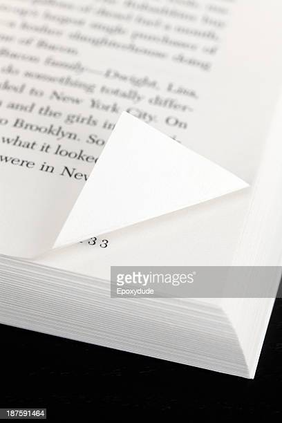 A book page with a corner folded down