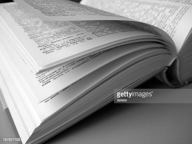 book pages - dictionary stock pictures, royalty-free photos & images