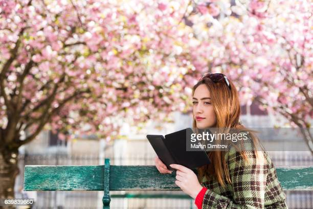 Book reading in the park