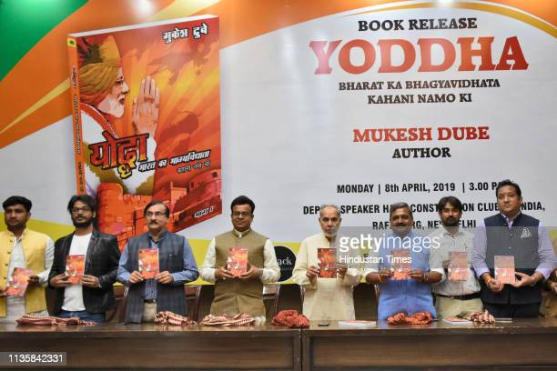 Book release of 'Yoddha Bharat Ka Bhagyavidhata Kahani Namo Ki' authored by Mukesh Dube at Constitution Club of India on April 8 2019 in New Delhi...