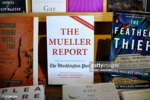 A book reprinting the Mueller Report and related materials presented by The Washington Post is among books for sale in a Santa Fe New Mexico bookstore