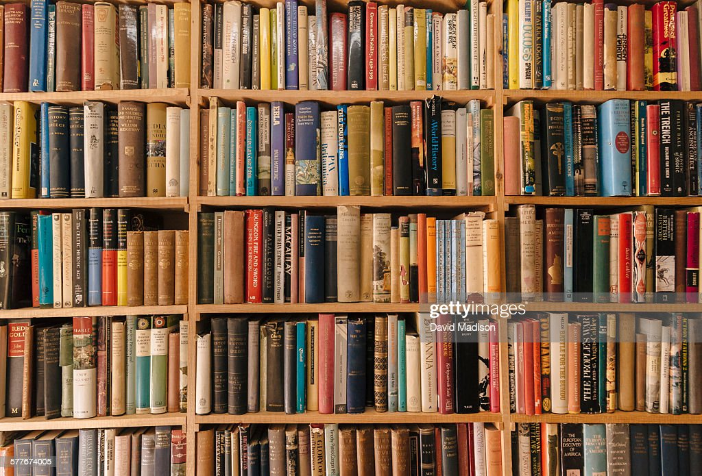 Book shelves : Stock Photo
