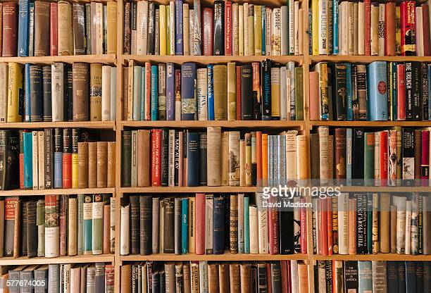 book shelves - boek stockfoto's en -beelden