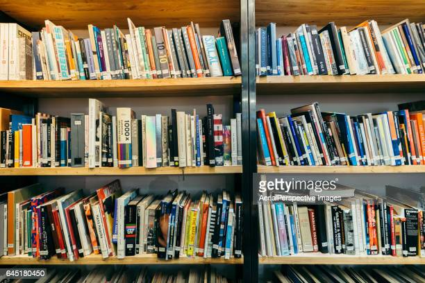 book shelves - book store stock photos and pictures